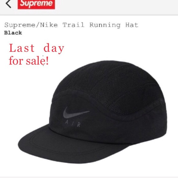 08b12645010 Supreme Nike Trail Running Hat with a supreme bag.